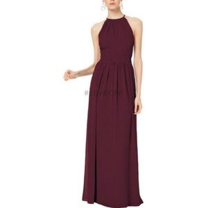 Bill levkoff maxi dress bridesmaid gown